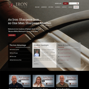 Iron Academy School Website Design & Development