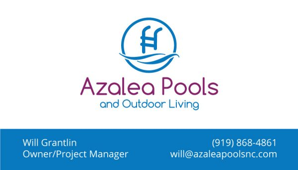Azalea Pools & Outdoor Living Business Card Design