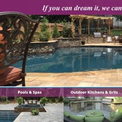 Azalea Pools & Outdoor Living Postcard Design