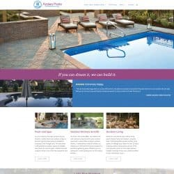 Azalea Pools & Outdoor Living Wordpress Website Design Developement