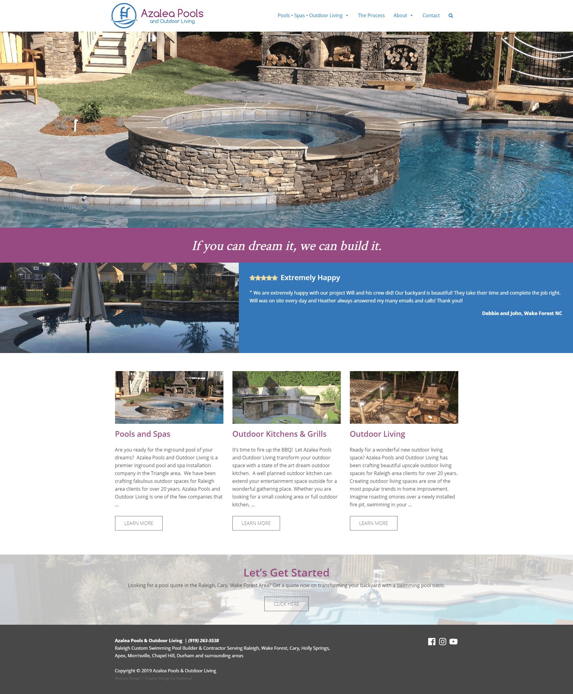 Pool Builder Website Design Redwood