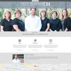 Drew Heberer Family Dentistry Dental Practice Website Design & Development