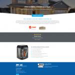 HVAC Company Website Design Home Page