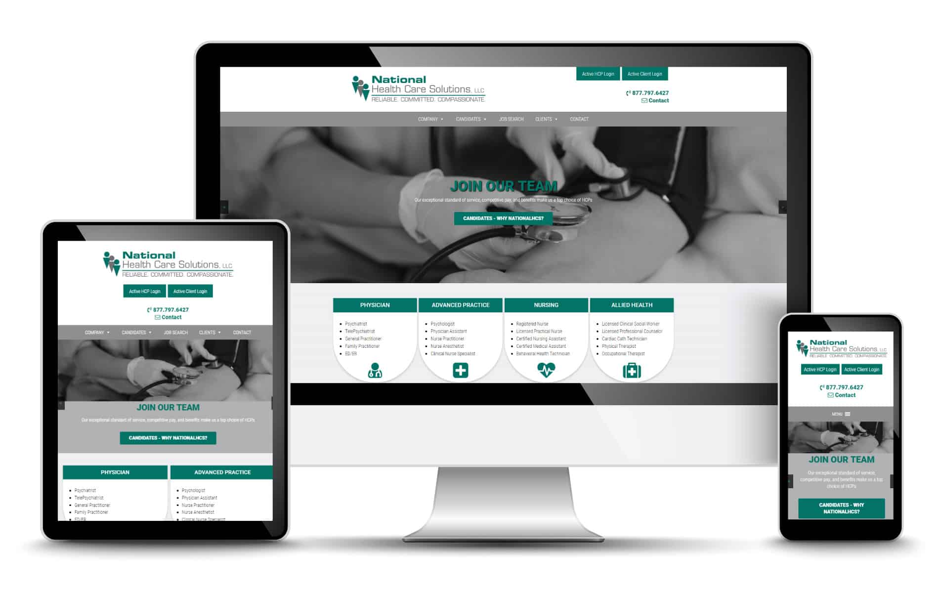 Health Care Website Design