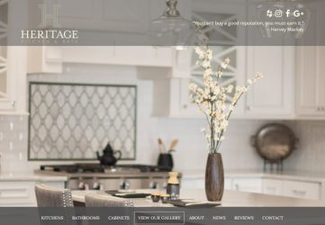 Heritage Kitchen & Bath General Contractor Website Design & Development