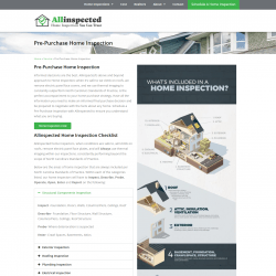 Hom Inspection Website Design Page