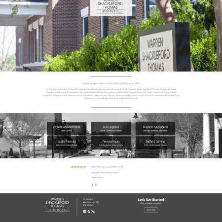 Law firm Web Designer for Warren Shackleford Thomas Attorneys