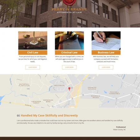 Perry & Brandt Attorneys Law Firm Website Design & Development