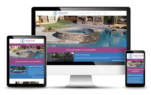 Pool Builder Website Design