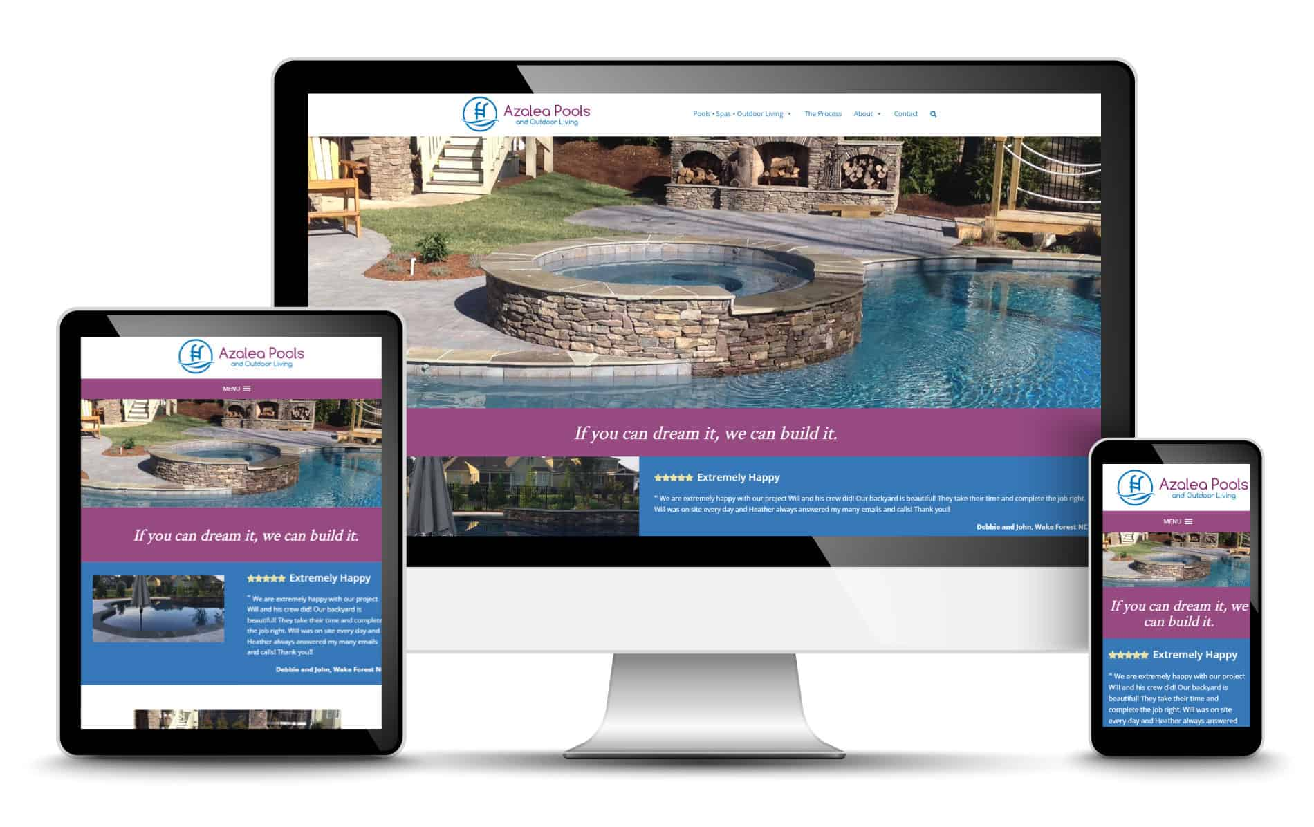 Pool Builder Website Design – Redwood | Raleigh & Wake Forest NC