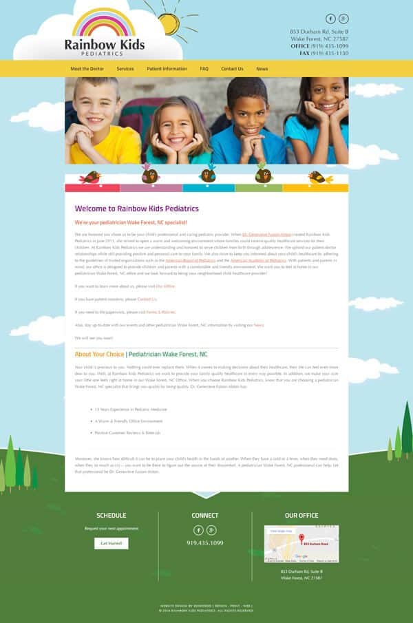 Rainbow Kids Pediatrics Website Design