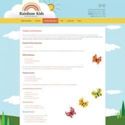 Rainbow Kids Pediatrics Website Design Development
