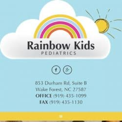 Rainbow Kids Pediatrics Website Design Development Responsive
