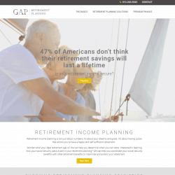 Retirement Planning Web Design Gap Retirement