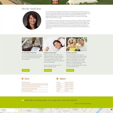 Wake Dental Wellness Dental Practice Website Design & Development