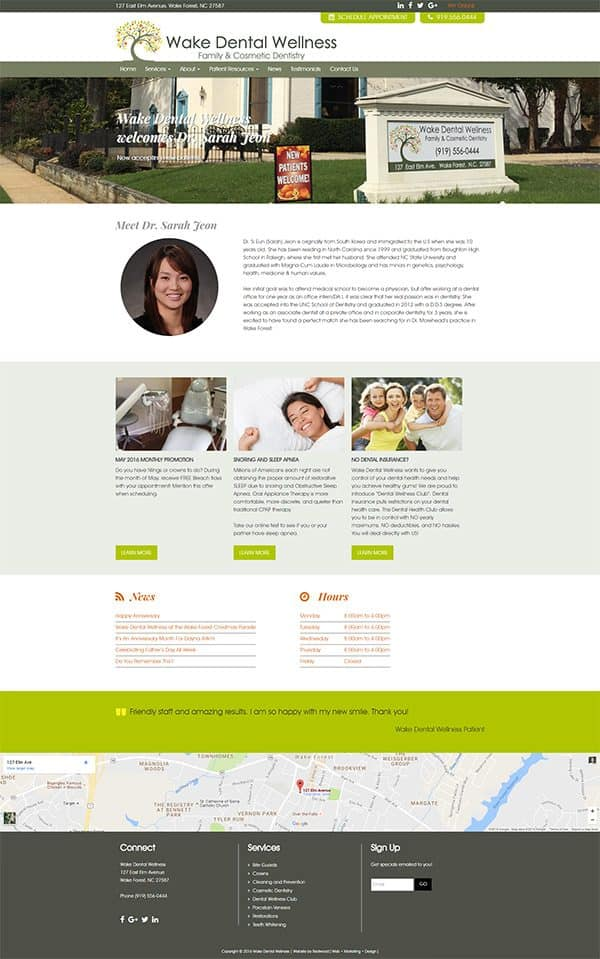 Wake Dental Wellness Website Design & Development