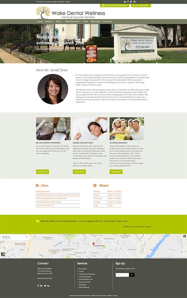 Wake Dental Wellness Dental Practice Website Design & Development