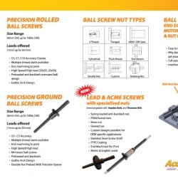 Accutech Ball Screw Brochure Designs