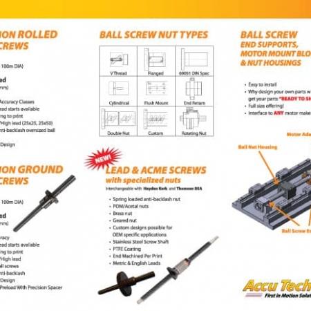 Accutech Ball Screw Brochure Designs