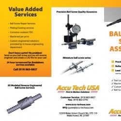 Ball Screw Brochure Design