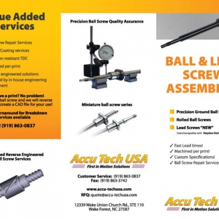 Accutech Ball Screw Brochure Design