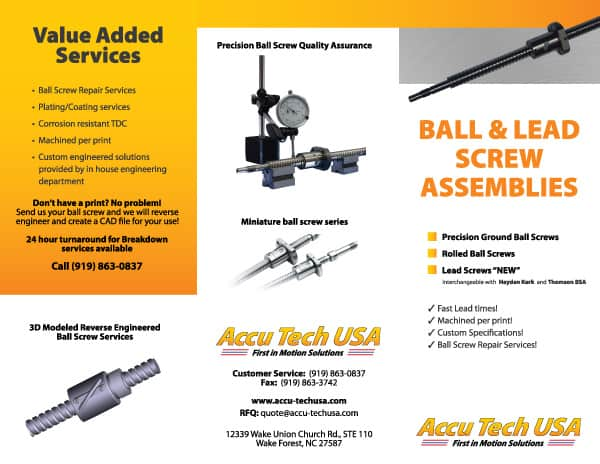 Accutech Ball Screw Brochure Design