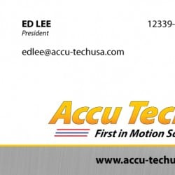 Accutech Manufacturing Business Card Design