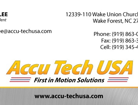 Accutech Manufacturing Business Card Design