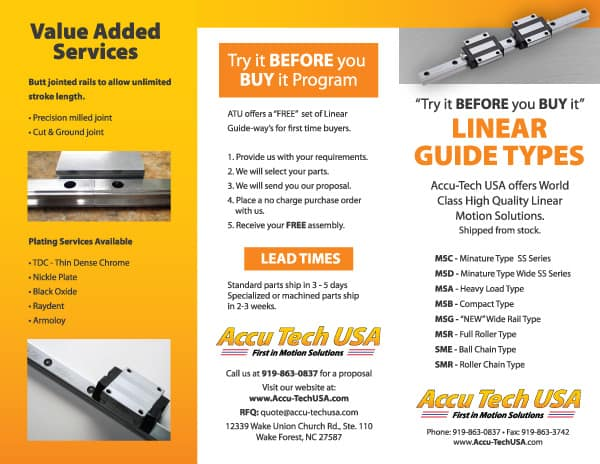 Accutech Linear Guide Brochure Design