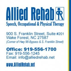 Allied Rehab Business Card Design Front