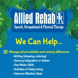 Allied Rehab Physical Therapy Rackcard Design Back Chidren