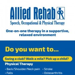 Allied Rehab Physical Therapy Rackcard Design Back
