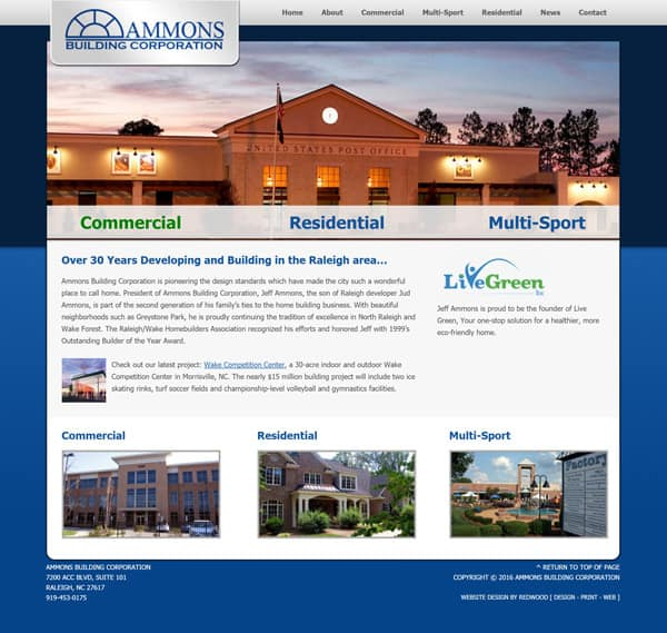 Ammons Building Builder Web Design & Development
