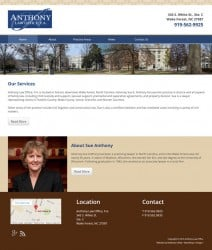 Anthony Law Office Web Design