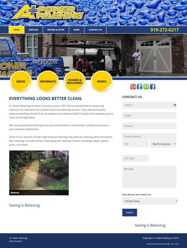 A Plus Powerwashing Website Design & Development