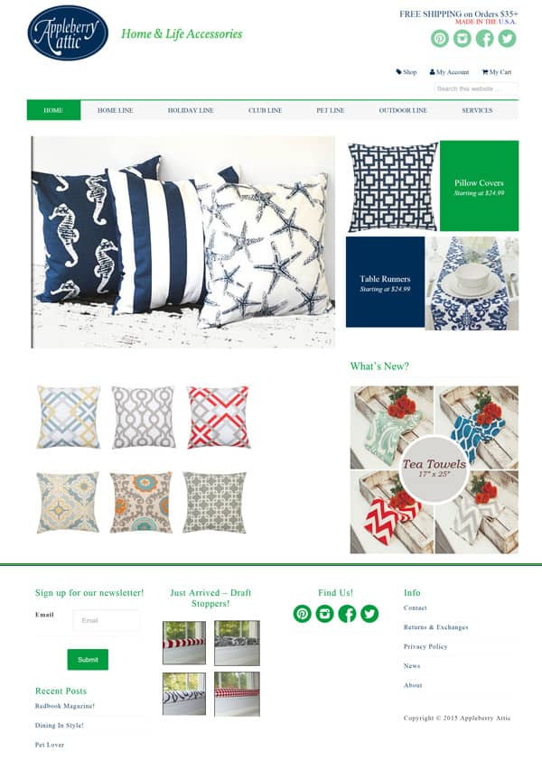 Appleberry Attic Ecommerce Web Design & Development