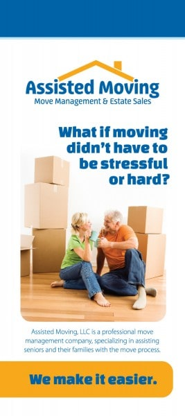 Assisted Moving Company Rack Card Design