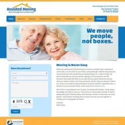 Assisted Moving Company Website Design
