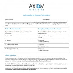 Axiom Dentistry Dental Practice Form Design