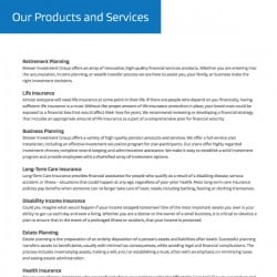 Brewer Investment Insurance Flyer 1