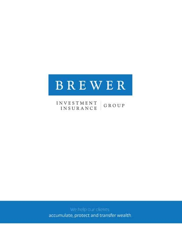 Brewer Insurance Investment Folder Design