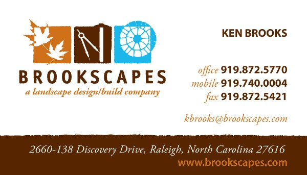 Brookscapes Landscape Landscaping Business Card Design