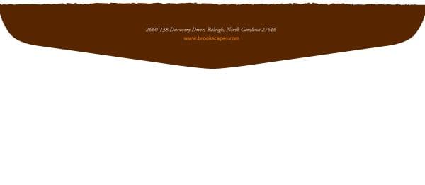 Brookscapes Envelope Design Back