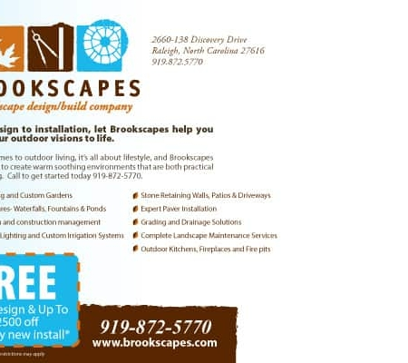 Brookscapes Landscaping Landscaping Postcard Design Back