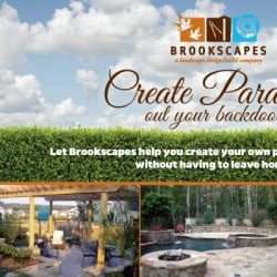 Brookscapes Landscaping Postcard Design Front