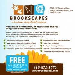 Brookscapes Landscape Landscaping Postcard Design Back