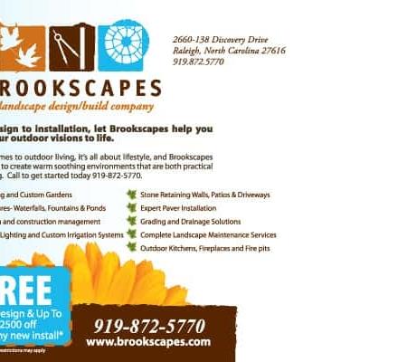 Brookscapes Landscape Postcard Design Back