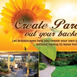 Brookscapes Landscape Landscaping Postcard Design Front