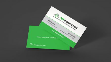business card design home inspection company