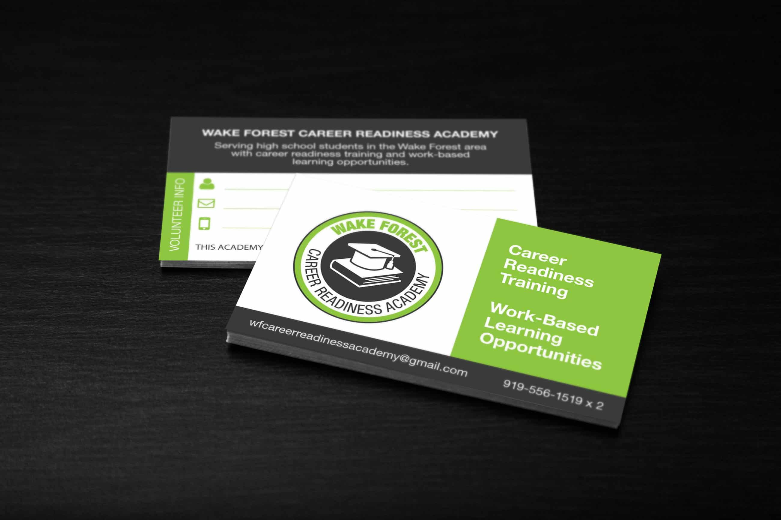 business card design for a chamber program